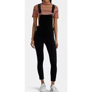 Blank NYC Velvet Skinny Overalls Jumpsuit Sz 27
